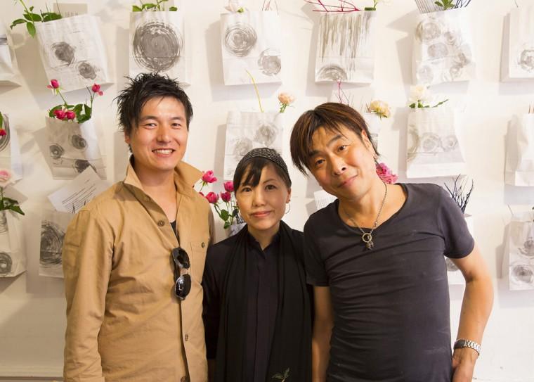 FRANCE セレでの書と花のインスタレーション。 ICHIKO TAKADA × HIDEKI HATAKEYAMA