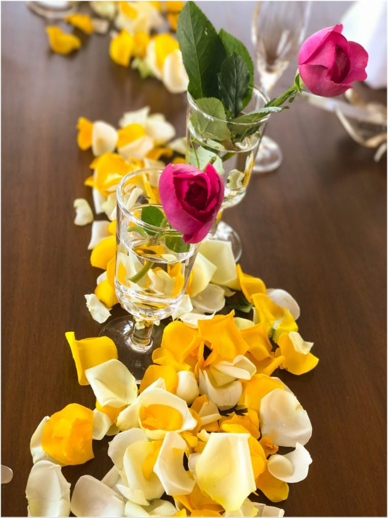 パーティの薔薇の美しい見せ方とは?