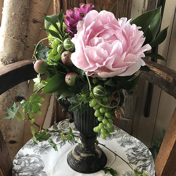 お花を楽しむレッスン(通販) 6月 今月のテーマは 爽やかな実物アレンジ