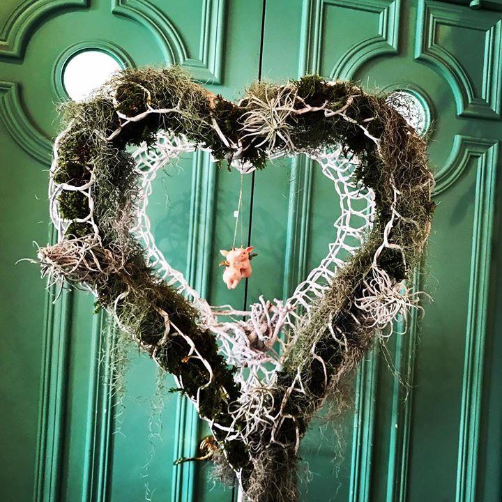Green Heart#flower #lotusgarden #苔#エアプランツ #heart #love#followme #しょくぶつ #おしゃれ