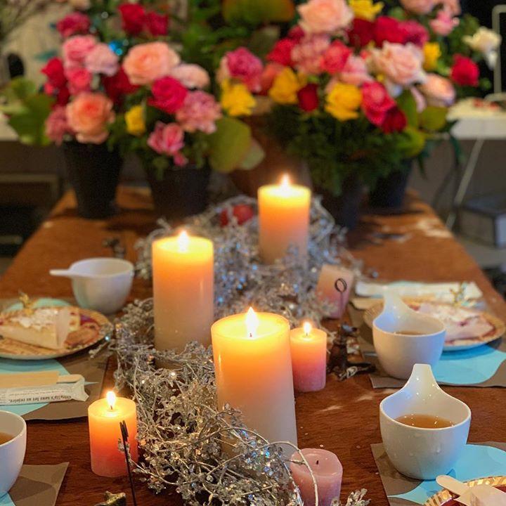 #バラのブュッフェスタイルのレッスン#終わったらティータイム #lotusgarden #flower #followme