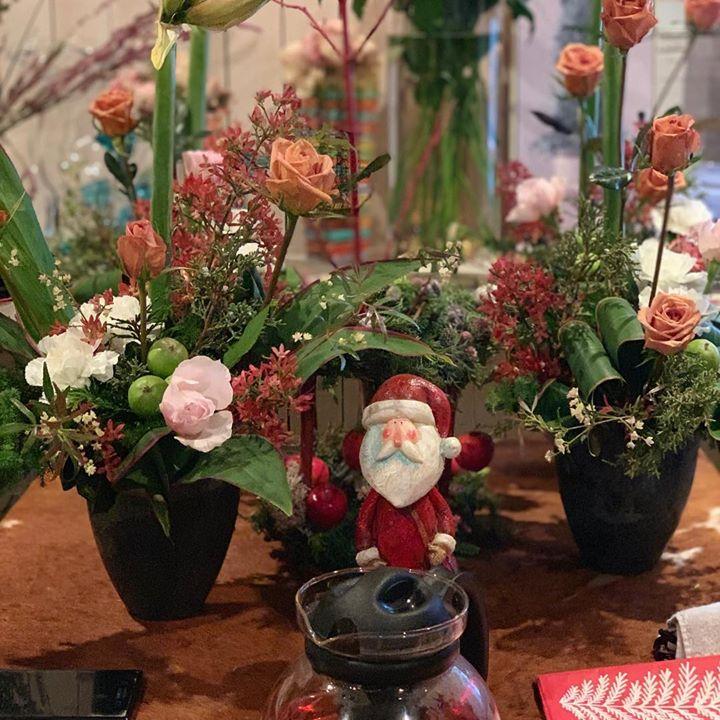 #lotusgarden  #クリスマスレッスン#インテリア#florist #salonlesson