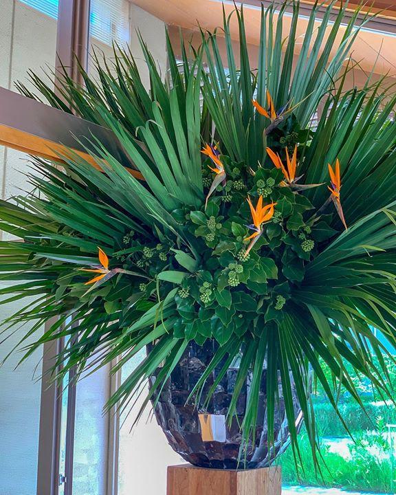 オブジェ デザイナーミッシェルダイバーの花器でお出迎え