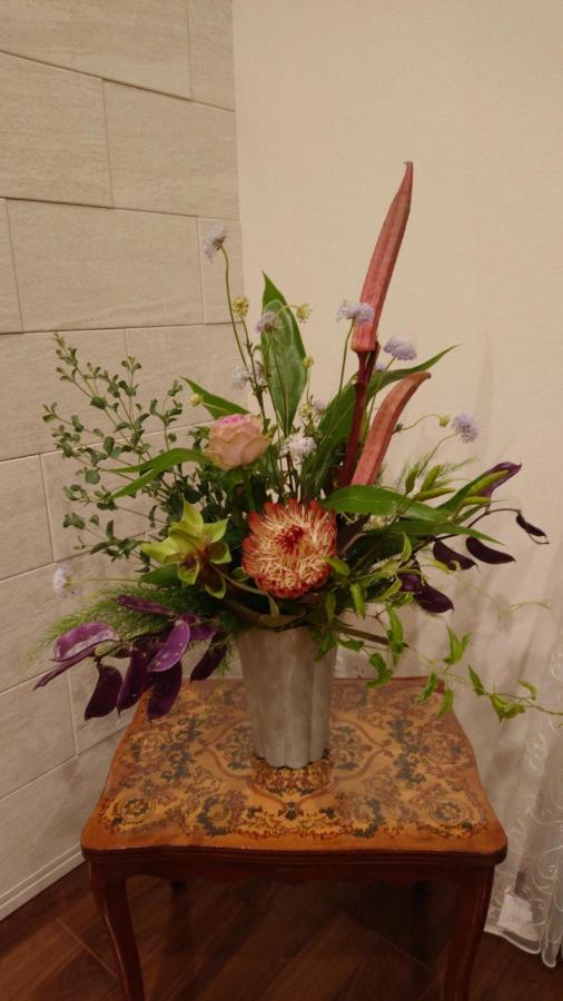 こうしたお花との出会いがあるのが、フラワーレッスンの素敵な点の一つです(T様)